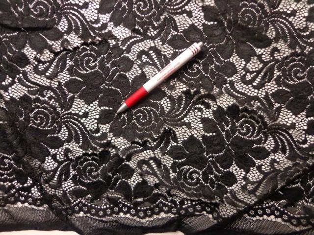 Rugalmas csipke, slingelt fekete (3959)