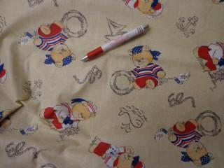 Gyerekmintás vászon, tengerész macis (4151)