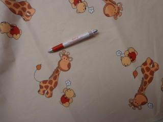 Gyerekmintás vászon, zsiráfos, macis (4152)