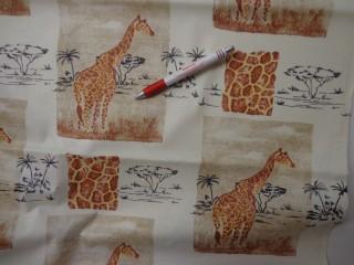 Gyerekmintás vászon, zsiráfos (4156)