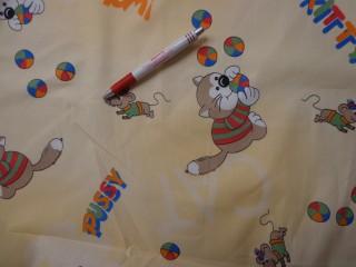 Gyerekmintás vászon, cicás-egérkés (4160)