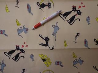 Gyerekmintás vászon, macskás-egeres (4162)