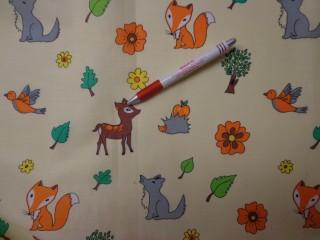 Gyerekmintás vászon, erdei mintás (4171)