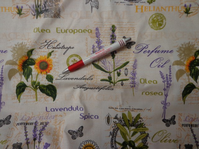 Mintás karton, levendula, oliva, napraforgó (4219)