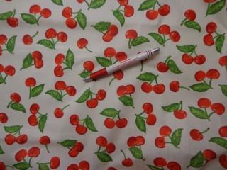 Mintás vászon, cseresznyés (4248)