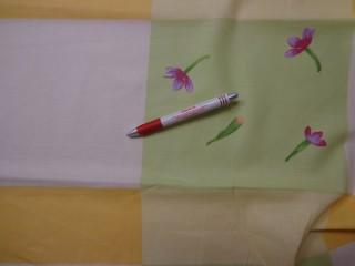 Mintás karton, nagy kockás, virágos (4250)