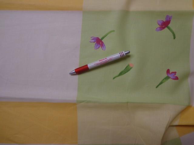 Mintás vászon, nagy kockás, virágos (4250)