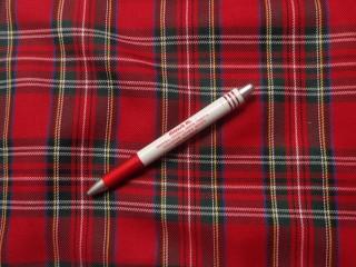 Skót kockás szövet, piros nagy kockás (4252-1)