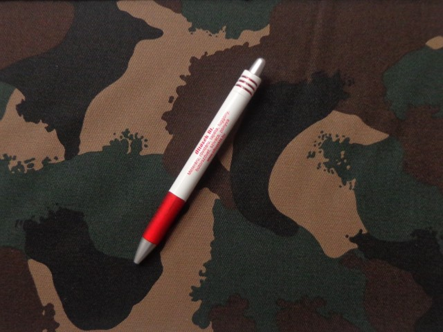 Erős, vastag  terepmintás vászon, 100% pamut, katonai mintával (4303)