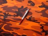 Vízlepergetős terepvászon, narancs (4316)