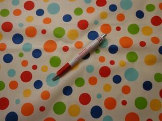 Mintás karton, ekrü alapon színes pöttyös (4351)