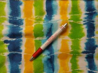 Loneta, kék-zöld-sárga batik, kerti bútor vászon (4358)