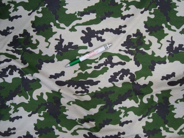 Egyfalas pamut, zöld-fehér-fekete terep (4441)
