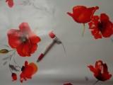 Viaszos vászon, fehér alapon pipacsos (4457)