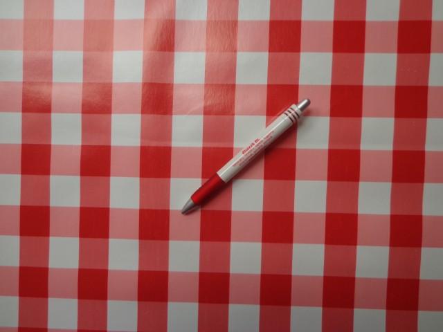 Viaszos vászon, piros-fehér nagykockás (4459)