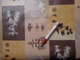 Viaszos vászon, barna drapp kockában mintás (4469)