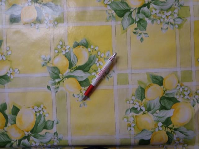 Viaszos vászon, sárga citromos (4475)
