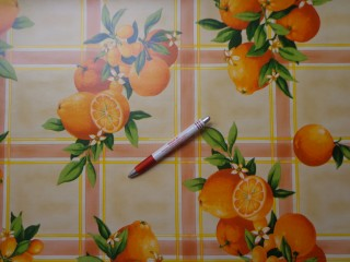 Viaszos vászon, narancsos, sárga (4476)