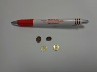 Mágneses kapocs, ósárgaréz, 10mm átmérőjű (4551-1)