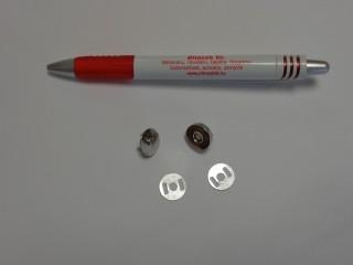 Mágneses kapocs, nikkel, 15 mm átmérőjű (4552)