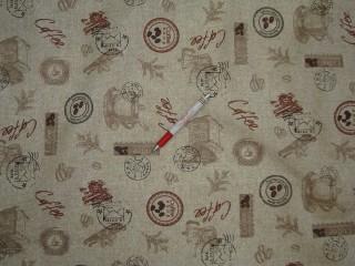 Vízlepergető kerti bútor vászon, kávés (4558)