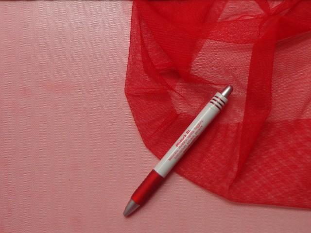 Rugalmas tüll, piros (4624)