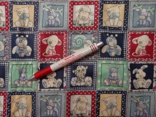 Gyerekmintás vászon, kockás, kisállatos (4763)