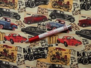 Gyerekmintás vászon, retro autós (4766)