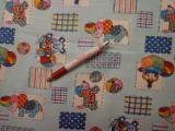 Gyerekmintás vászon, bohócos, elefántos, macis (4768)