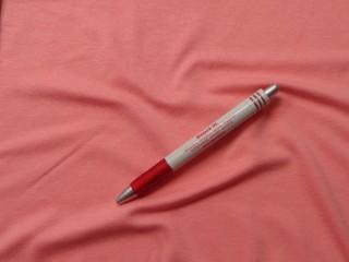 Rugalmas viszkóz jersey, lazacos rózsaszín, 180 cm széles (4958)
