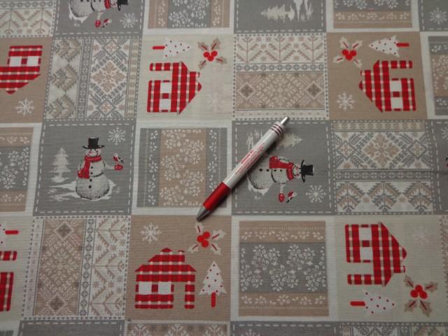 Loneta, karácsonyi vászon, hóemberes (5233)