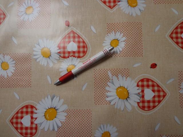 Viaszos vászon, margarétás, szíves, katicás (5264)
