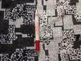Jacquard szövet, fekete-fehér, pöttyös, double (5416)