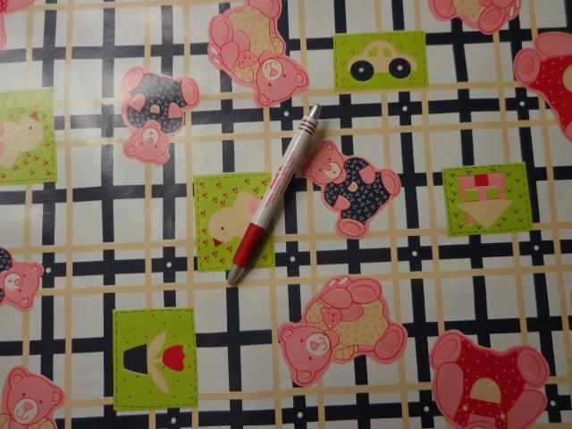 Viaszos vászon, kockás-macis (5419)