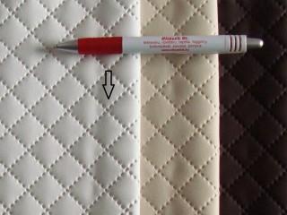 Fehér, magában nyomott mintás textilbőr (5465)