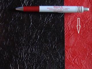 Piros, egyszínű textilbőr (5574)
