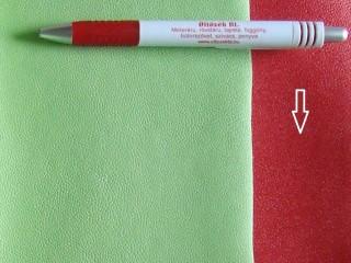 Piros, egyszínű textilbőr (5636)