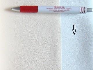 Fehér, egyszínű textilbőr (5640)