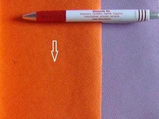 Narancssárga, egyszínű textilbőr (5641)