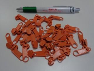 RT-10-es laza cipzár kocsi spirálfogú végtelen cipzárhoz, narancssárga (5684)