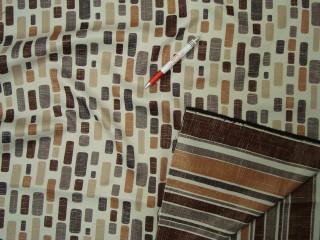 Mintás black out sötétítő függöny, drapp - barna (5771)
