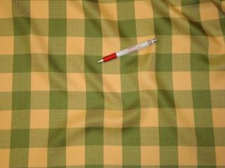 Narancs-zöld kockás, abrosz anyag (6013)