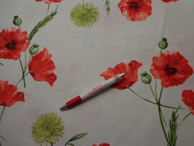 Loneta, pipacsos kerti bútor vászon (6044)