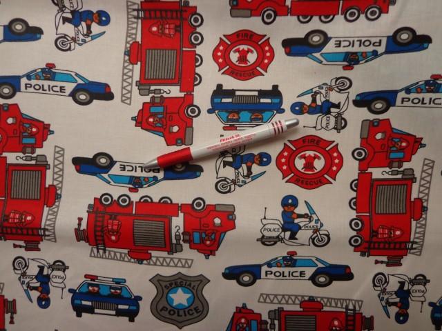 Gyerekmintás karton, rendőr és tűzoltó autók (6049)