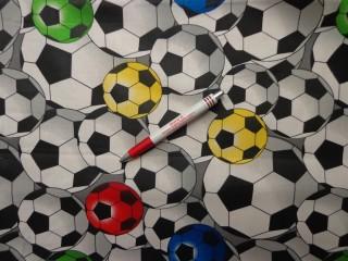Gyerekmintás vászon, focilabdás (6050)