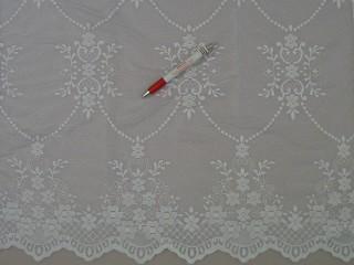 Magában barokk mintás fehér jacquard függöny, 180 cm magas (7185)