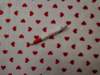 Babysoft, fehér alapon, piros szíves (7199)