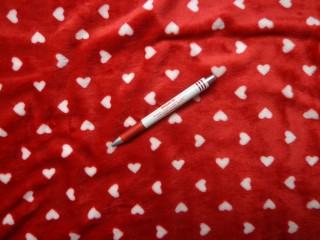 Babysoft, piros alapon, fehér szíves (7200)