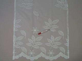 Levél - és virágmintás jacquard függöny, 160 cm magas (7216)