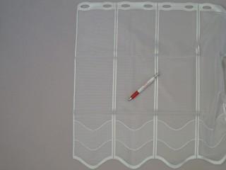Hullámos mintájú, jacquard vitrázsfüggöny, 120 cm magas (7225)